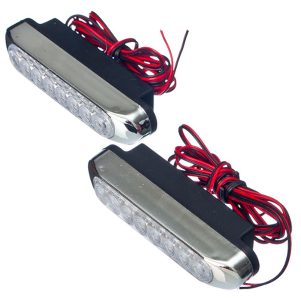 Дневные ходовые огни DRL115, 8LEDх0,07W, 100х17х33мм
