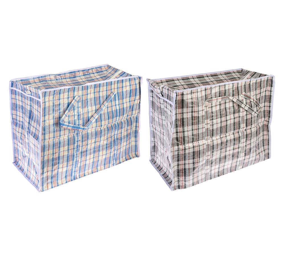 """Сумка хозяйственная, нетканый материал, 60x50x30см, """"Клетка"""", 2 цвета"""