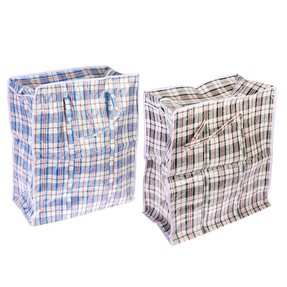 """Сумка хозяйственная, нетканый материал, 55x65x30см, """"Клетка"""", 2 цвета"""