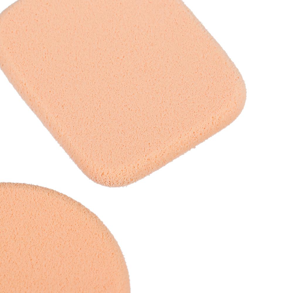 Набор спонжей для макияжа 2шт, латекс, d5,5см/4,3х5,3см