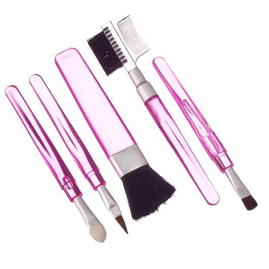 Кисти для макияжа ЮниLook, 5 шт, ворс нейлон, 11 см