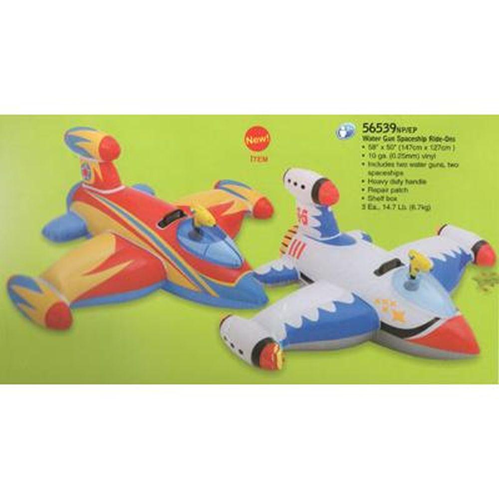 INTEX Игрушка для катания верхом Водный самолет, с вод. пистолетом, 147*127 см, от 3-х лет, 56539