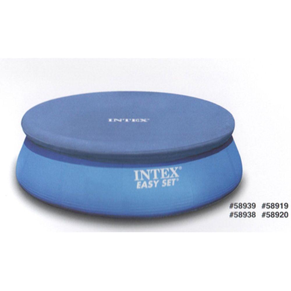 Крышка для круглого бассейна INTEX 28020 с надувными бортами, d. 244см