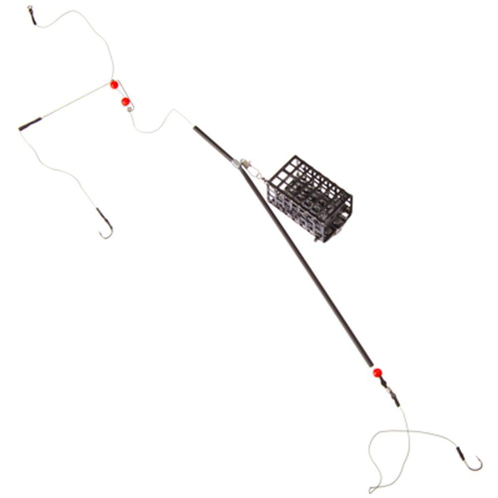 AZOR Снасть фидерная оснащенная, металл, пластик, кормушка 40 гр
