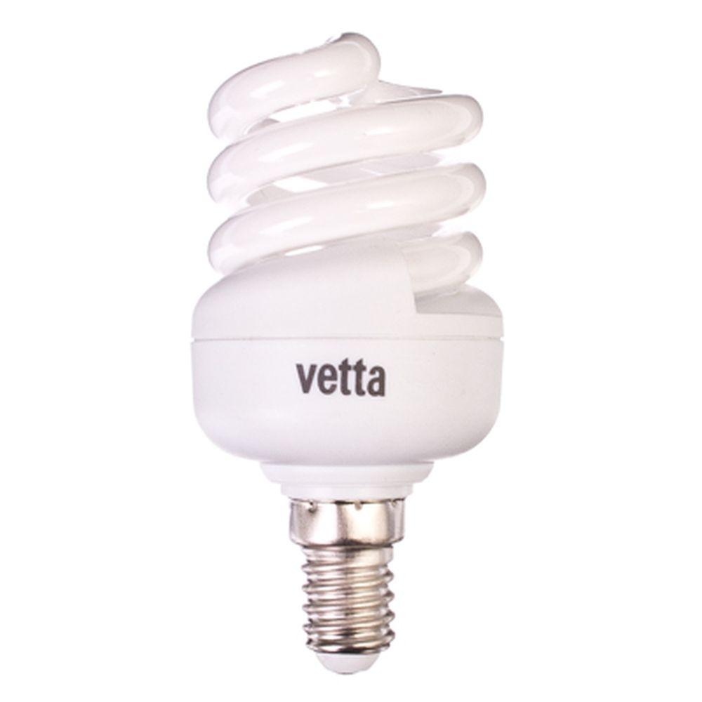 VETTA Лампа энергосберегающая E14 11W 4100K полн. спираль, трубка Т2