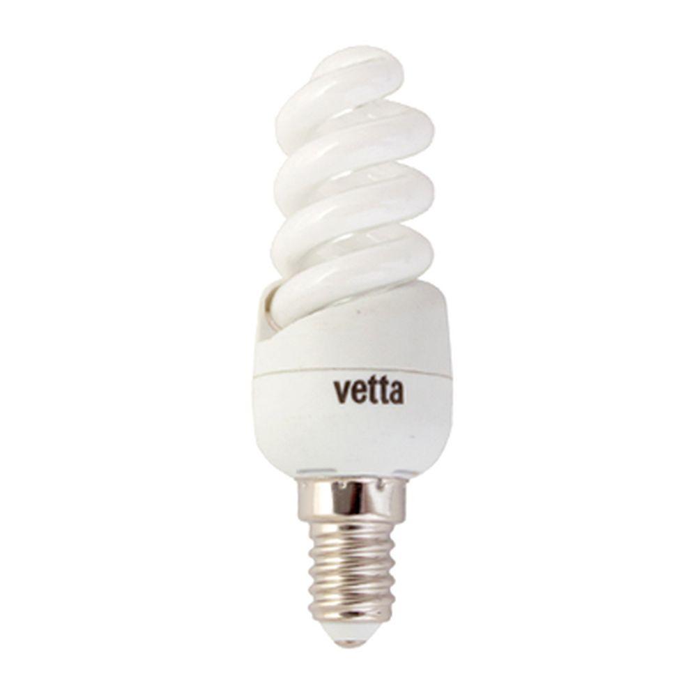 VETTA Лампа энергосберегающая E14 9W 2700K полн. спираль, трубка Т2