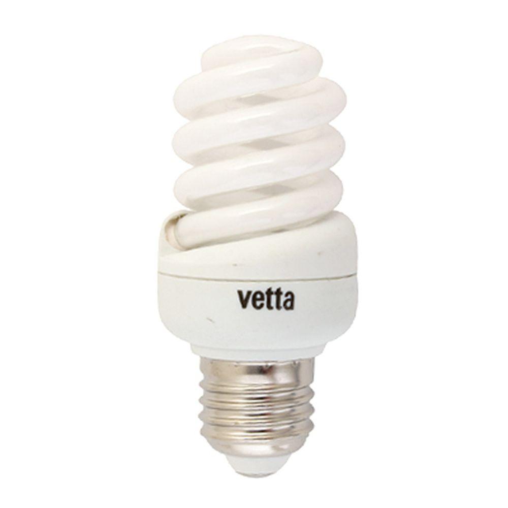 VETTA Лампа энергосберегающая E27 15W 4100K полн. спираль, трубка Т2