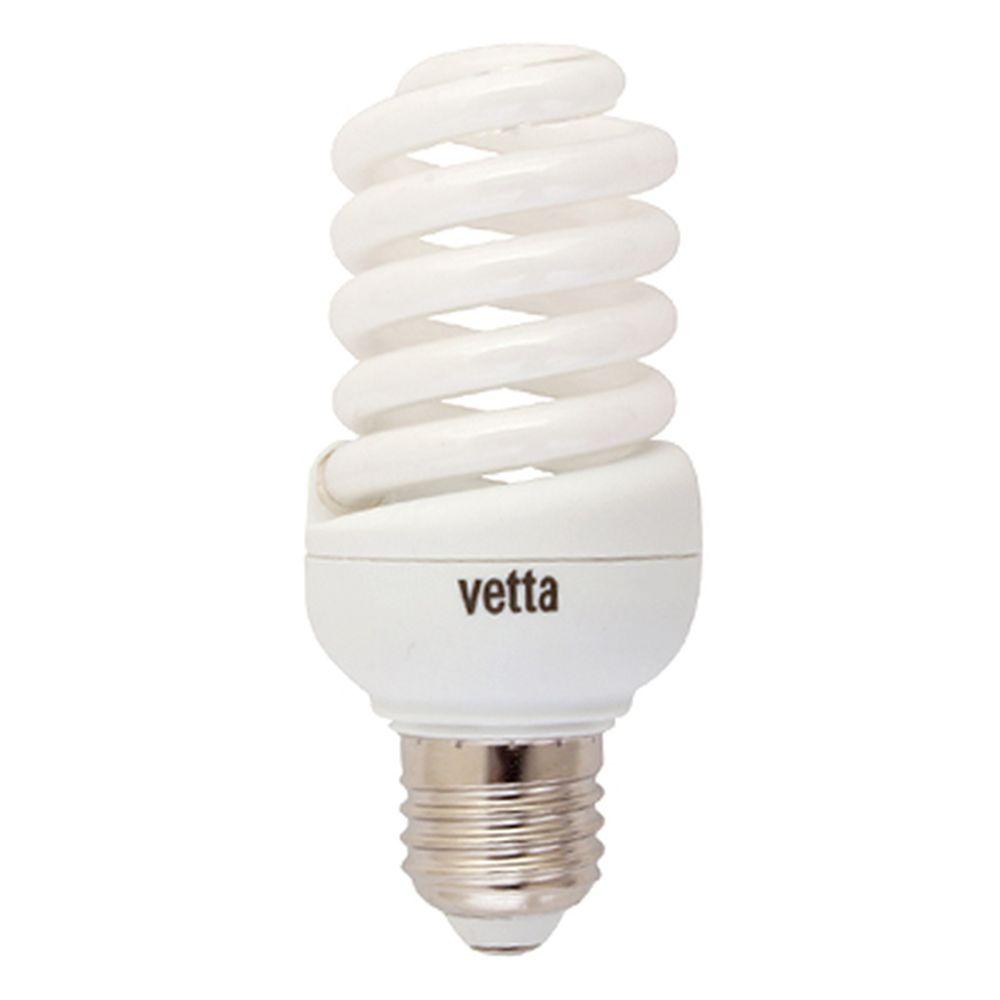 VETTA Лампа энергосберегающая E27 25W 4100K полн. спираль, трубка Т2