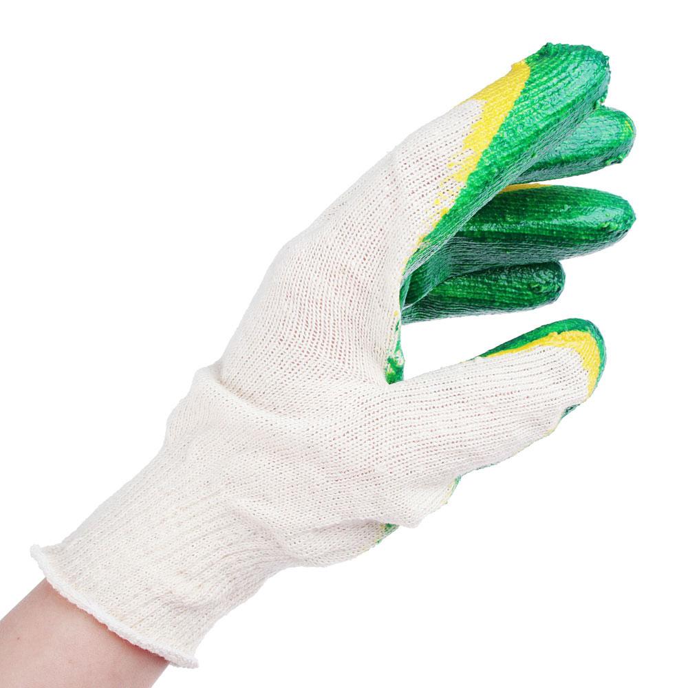 Перчатки вязаные х/б обливные с 2-слойным латексным покрытием