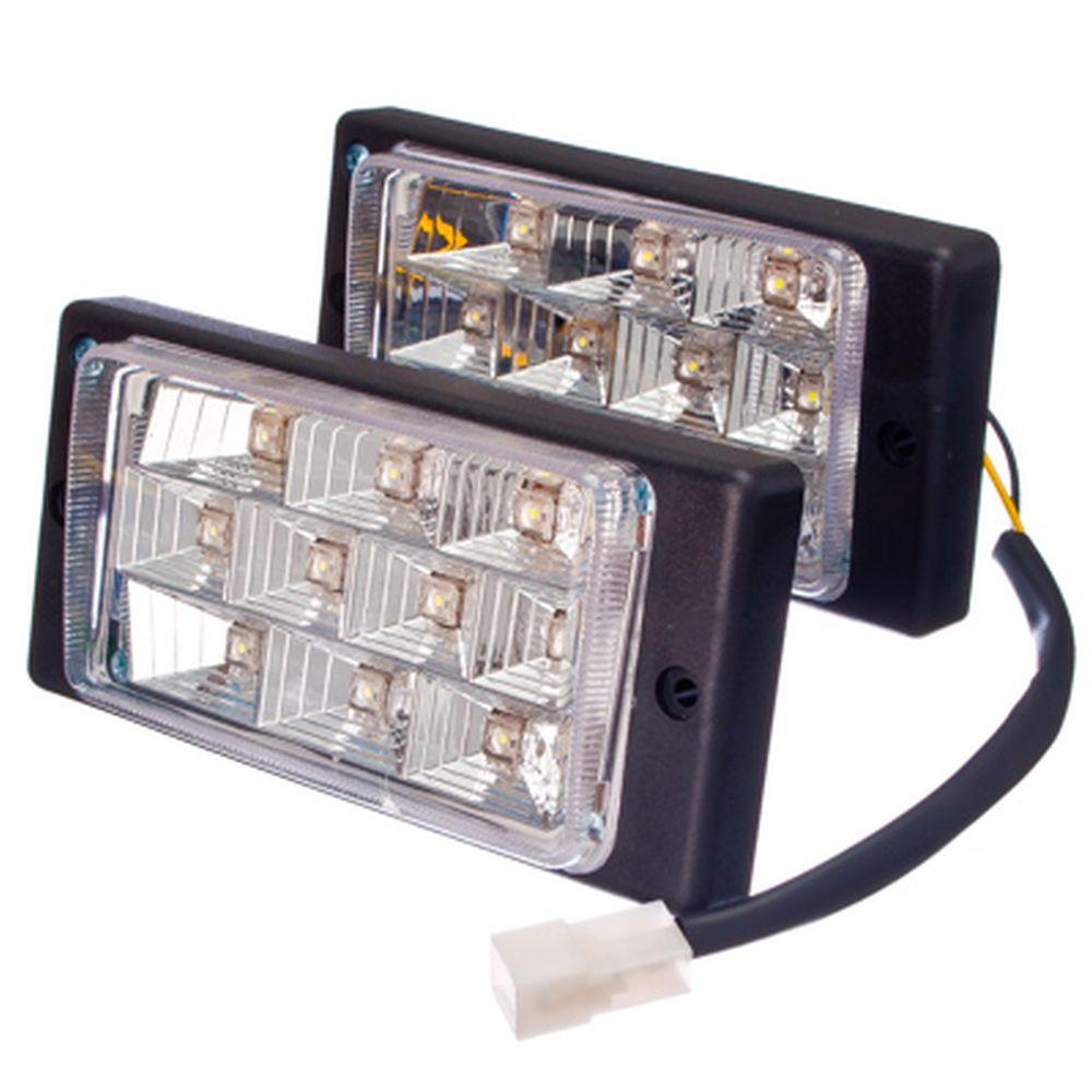 Дневные ходовые огни ВАЗ-2110, 10LEDx0,2W, комплект 2 шт.