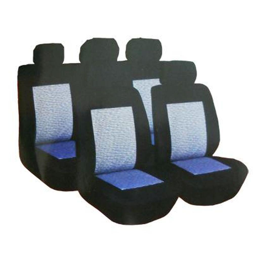 NEW GALAXY Чехлы автомобильные универ. 9 пр., жаккард, поролон 4мм, черный, 3195