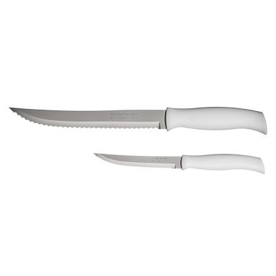 Нож для мяса 12.7см, белая ручка, Tramontina Athus, 23081/085