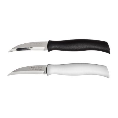 Нож для овощей 8см, белая ручка, Tramontina Athus, 23079/083