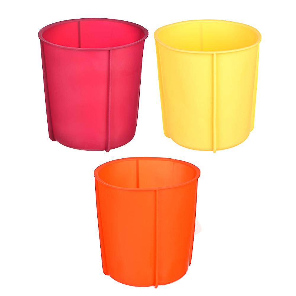 VETTA Форма силиконовая для кекса 14x15см, 3 цвета, 11HS071G