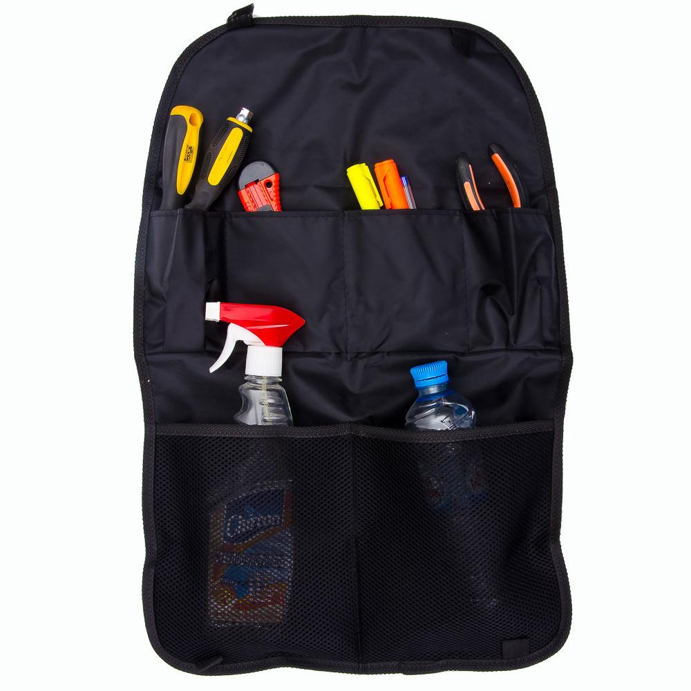 NEW GALAXY Защита спинки сиденья авто от детских ножек, 6 карманов из ткани, 60х40см