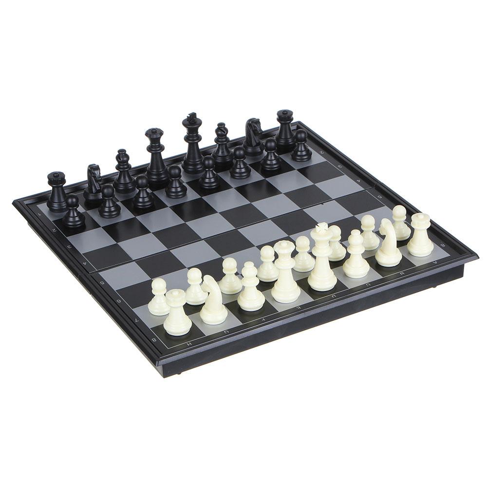 Набор игр 3 в 1 (магнитные шашки, шахматы и нарды) 24х24см, пластик, металл, SC56810