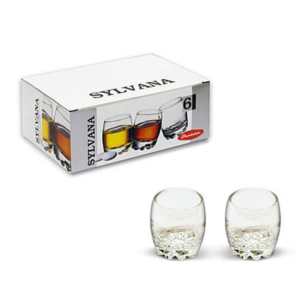 """PASABAHCE Набор стаканов 6шт для водки, 80мл, """"Sylvana"""", 42244B"""