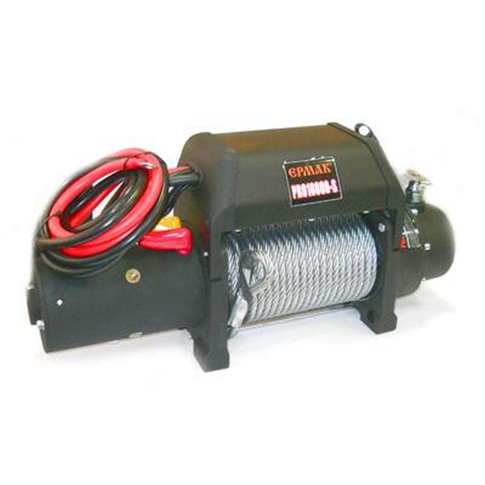 ЕРМАК Лебедка электрическая PRO10000S, 4309кг, 12v, увел. скорость намотки; спец. защ. покрытие