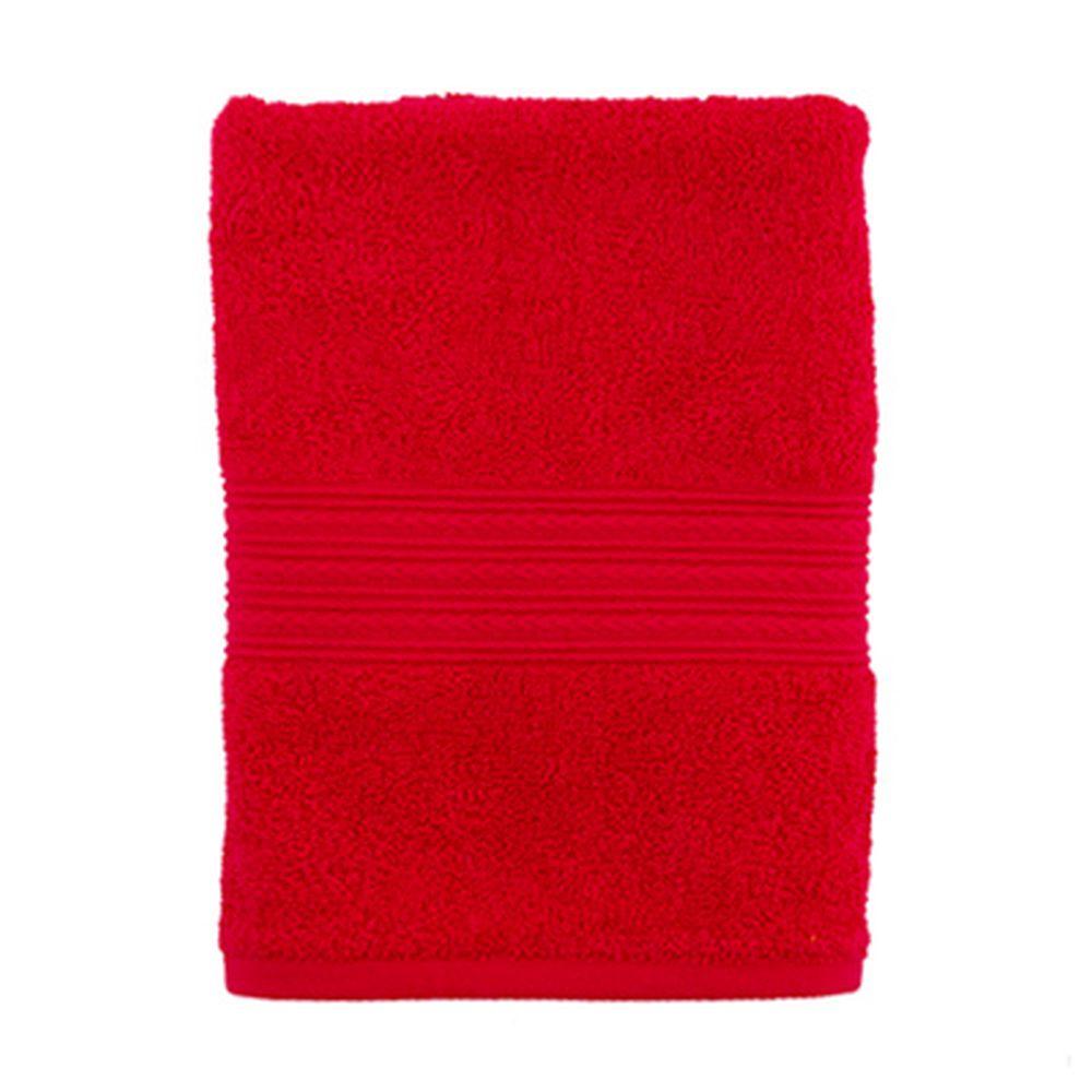 """Полотенце махровое, 100% хлопок, 50x90см, """"ДМ"""", бордовый"""