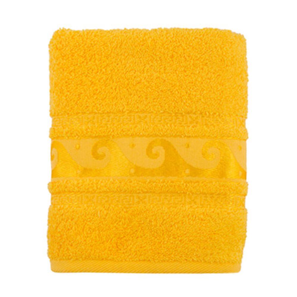 Полотенце махровое, 100% хлопок, 50x90см, Cleanelly, желтый