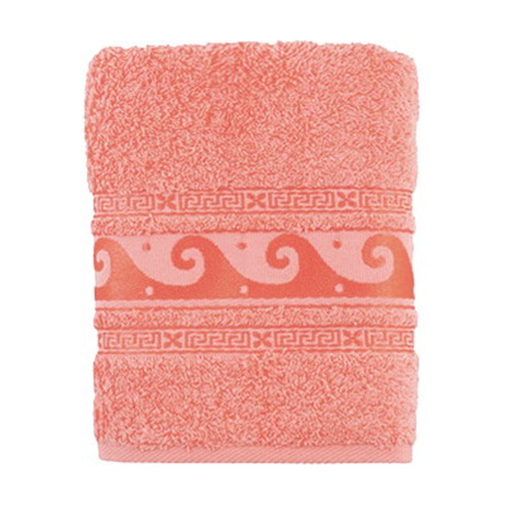 Полотенце махровое, 100% хлопок, 50x90см, Cleanelly, розовый