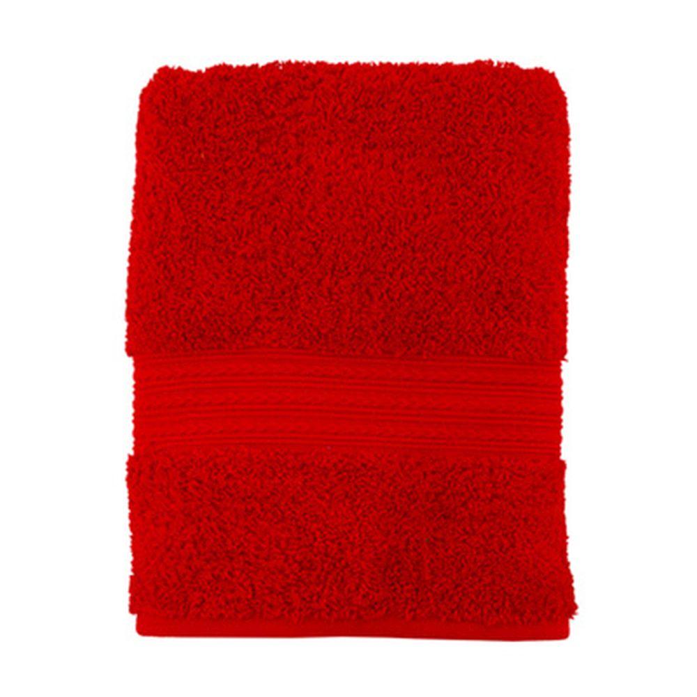 """Полотенце махровое, 100% хлопок, 50x100см, """"ДМ Люкс"""" Радуга, красный"""