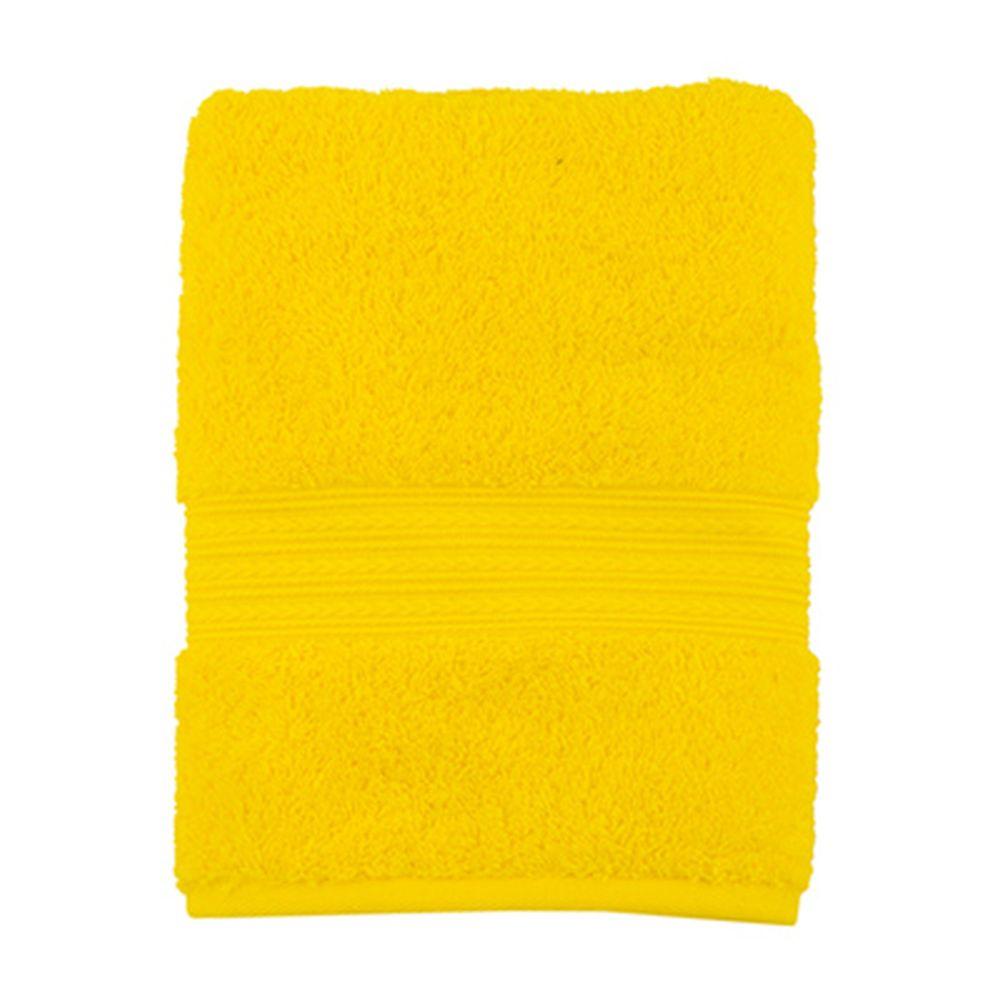 """Полотенце махровое, 100% хлопок, 50x100см, """"ДМ Люкс"""" Радуга, желтый"""