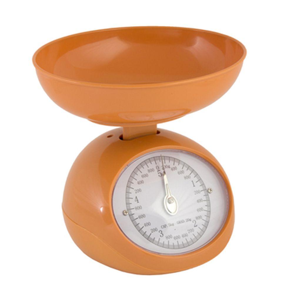 Весы кухонные механические с пластиковой чашей 5л, макс.нагр. до 5кг, 3 цвета