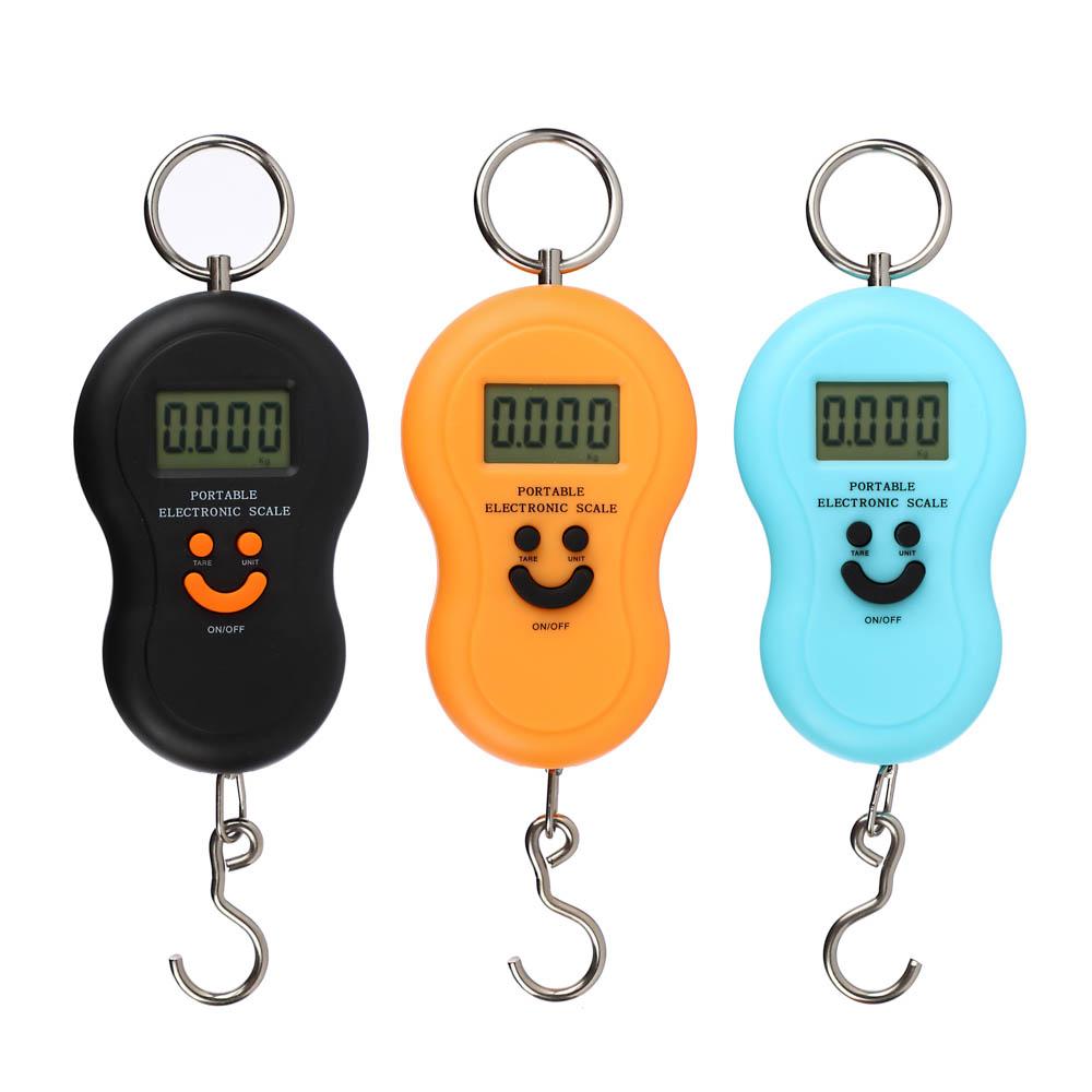 Безмен электронный с дисплеем, с подсветкой, пластик, макс. нагр. 50кг, 3 цвета