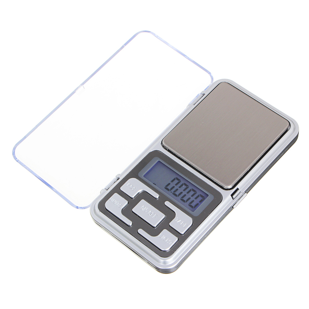 Весы портативные электрон., ЖК-дисплей, макс.нагр. до 500гр, (погрешность 0.1 гр.) 2xААА, 12x6см