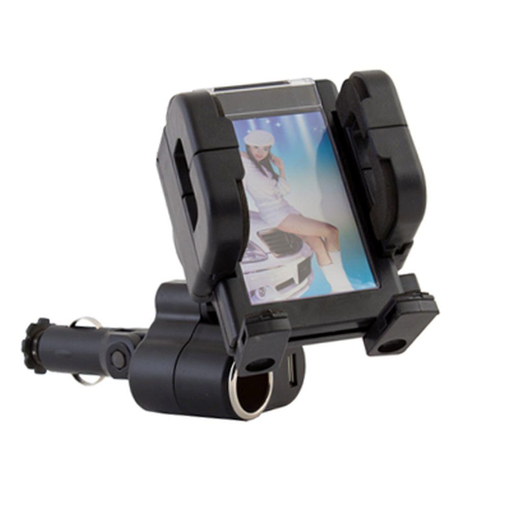NEW GALAXY Держатель сотового телефона в гнездо прикуривателя с питанием 12В и USB 5В