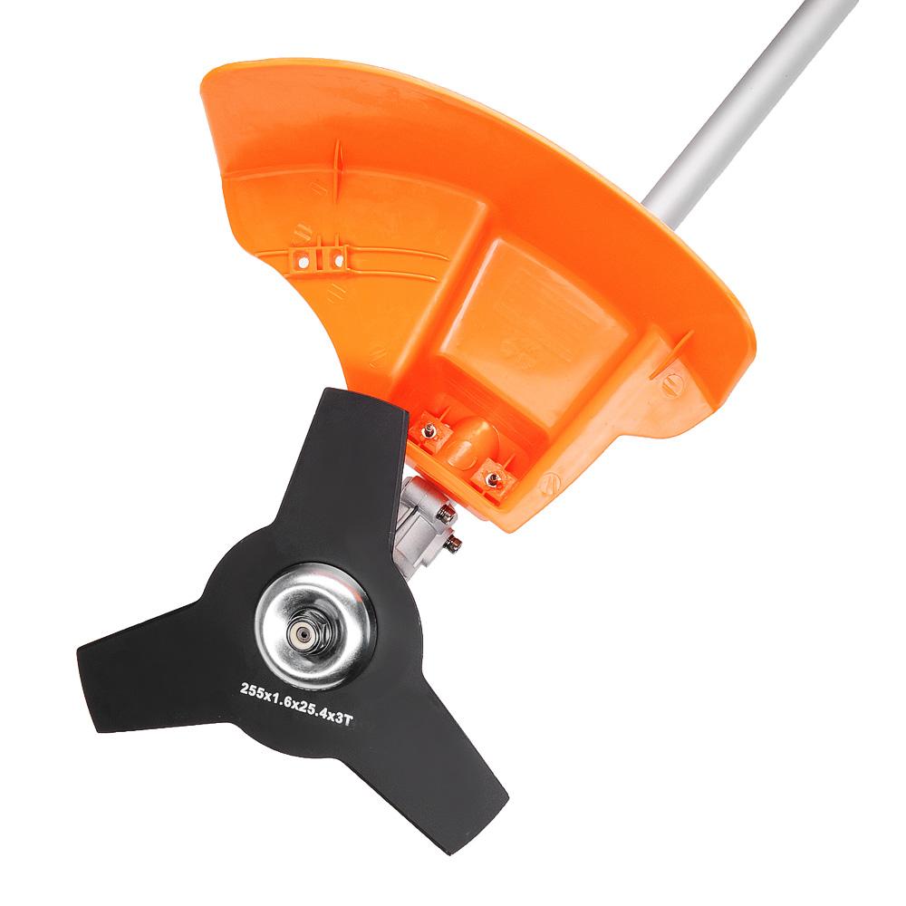 ЕРМАК Триммер-кусторез электр. ЭТ-1200Н, 1200Вт, 6300об/мин, 254/380мм, стальн.нож, катуш с леск 2мм