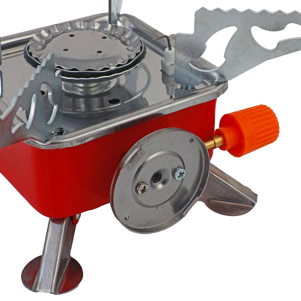 Плитка газовая ЧИНГИСХАН к баллону с цанговым захватом портативная, 12х12х10см