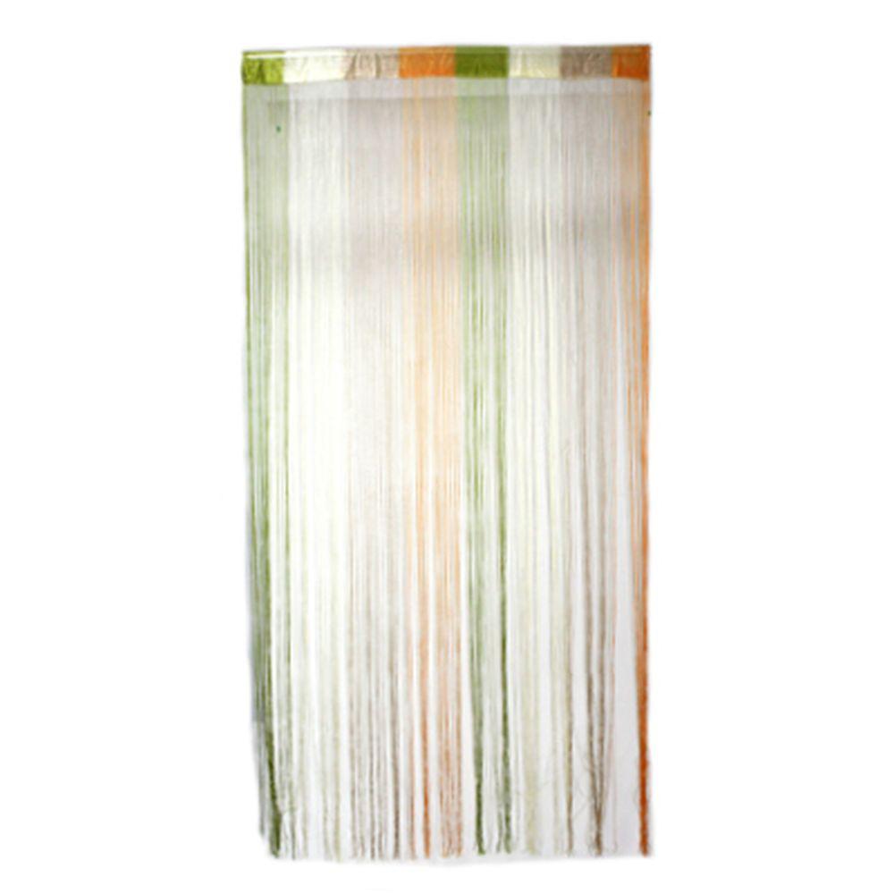 Занавеска нитяная межкомнатная, полиэстер, разноцветная, 1х2м