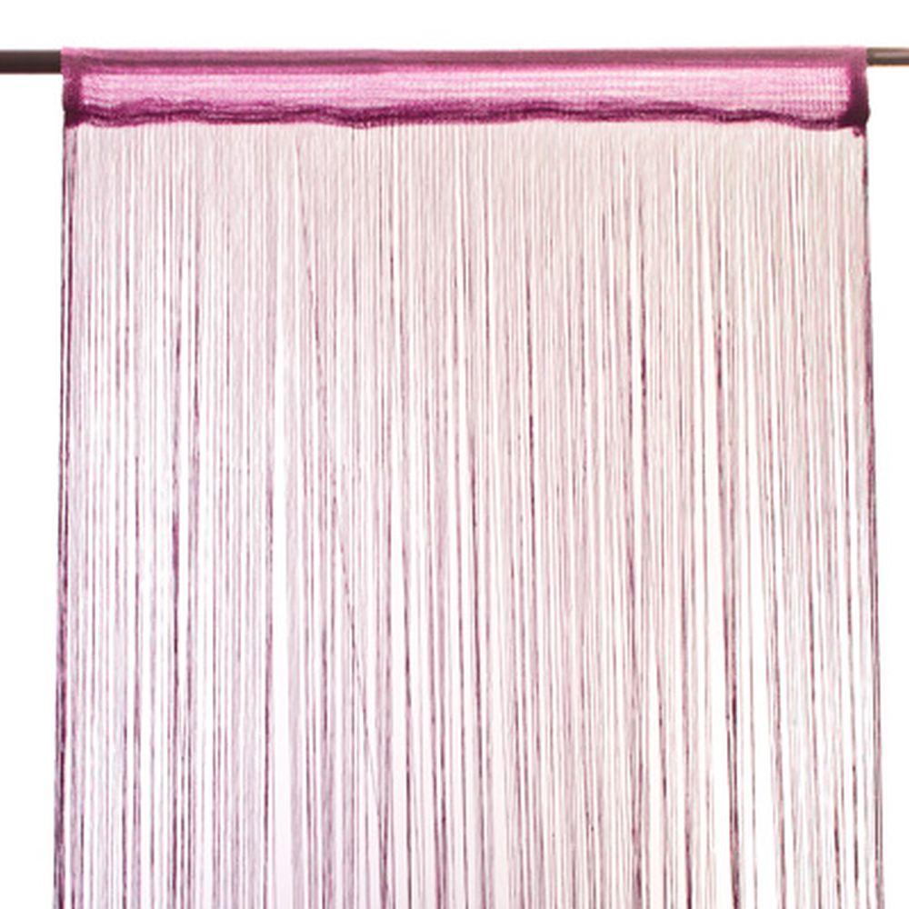 Занавеска нитяная 1x2м, бахрома, фиолетовая