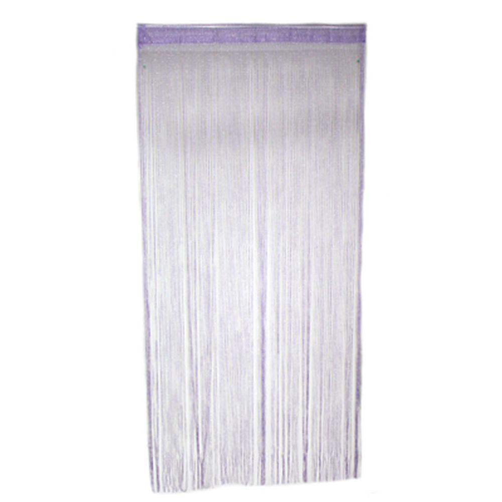 Занавеска нитяная 1x2м, с блестками, фиолетовая