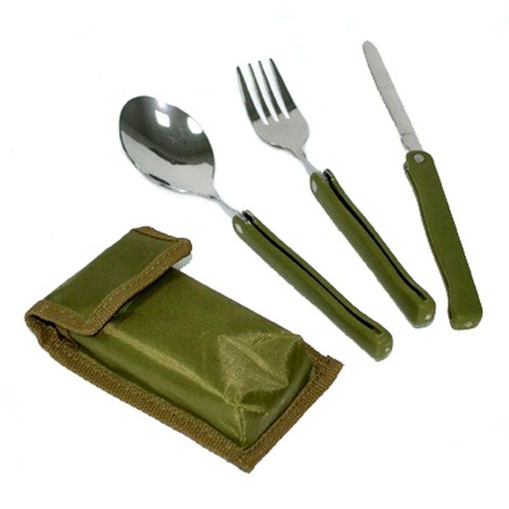 Набор туриста в чехле (вилка, ложка, нож) 3пр