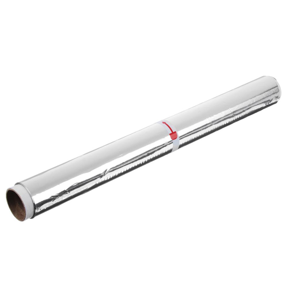 GRIFON Фольга алюминиевая 29см х 10м, стандартная 9мкм, в пленке, 500-010