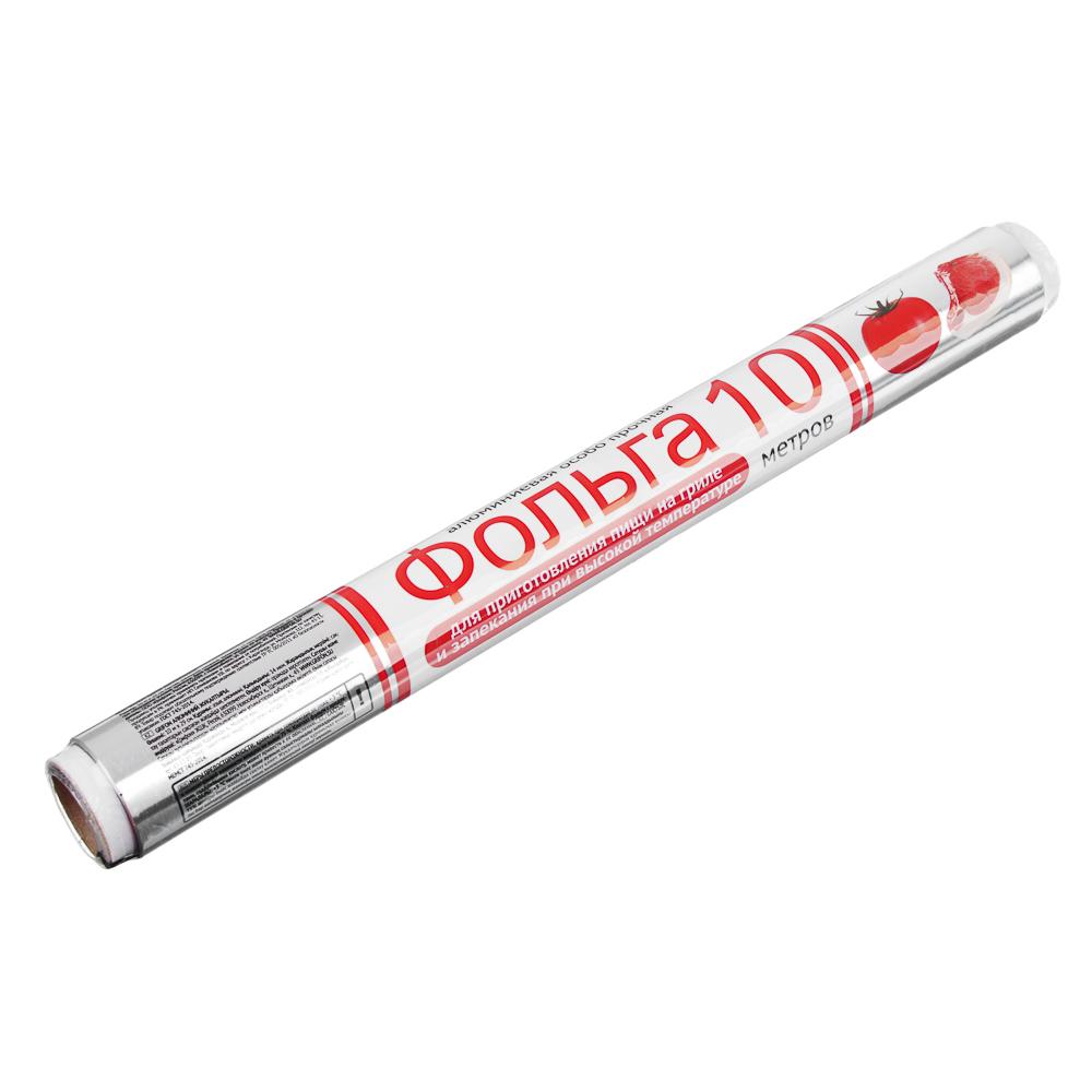 GRIFON Фольга алюминиевая особо прочная 29см х 10м в пленке 14 мкм 500-012