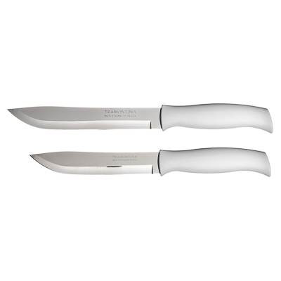 Кухонный нож 18см, белая ручка, Tramontina Athus, 23083/087