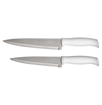 Кухонный нож 18 см Tramontina Athus, белая ручка, 23084/087