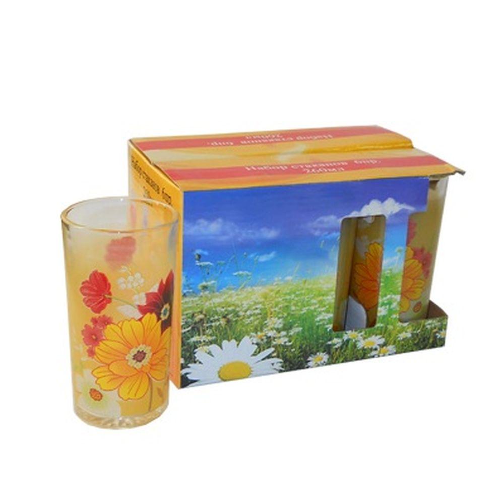 Набор стаканов 6шт, 260мл, Солнечный цвет