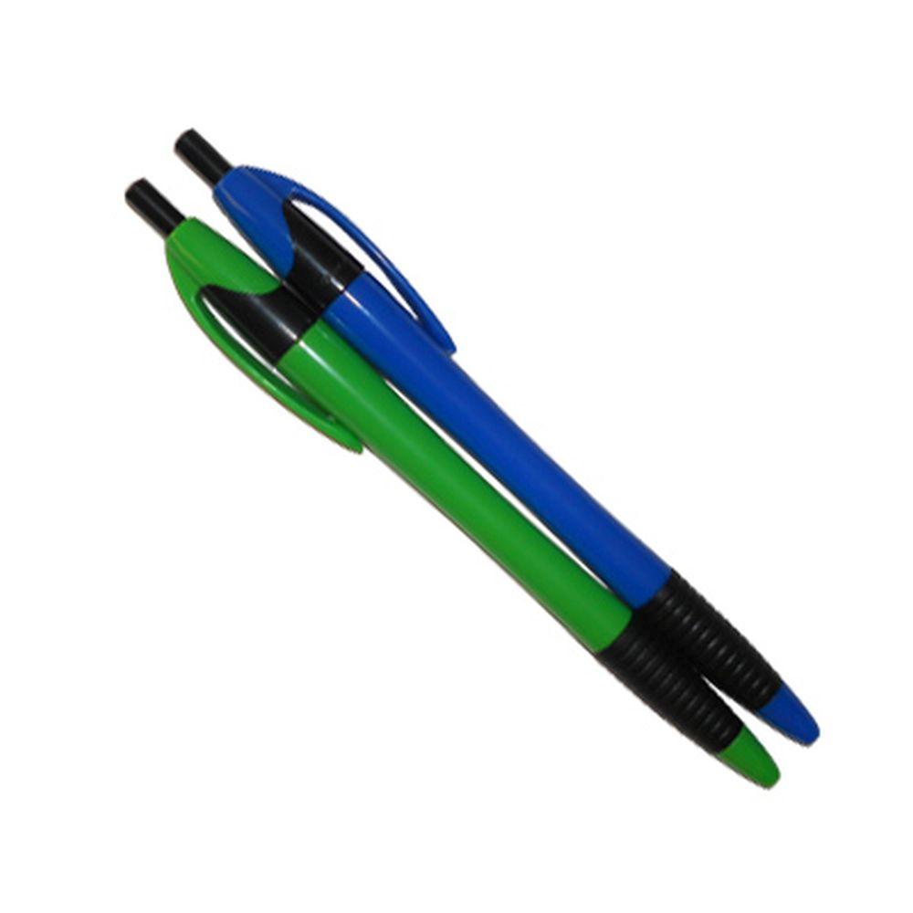 Набор ручек шариковых 2шт, автомат. синие, с рез.держателем, в пакете с европодвесом, AE120