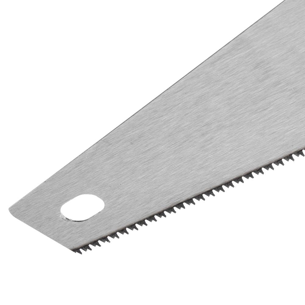ЕРМАК Ножовка по дереву 400мм, закаленный зуб, трехстор заточка, (чистый пропил, 12 зубьев на дюйм)