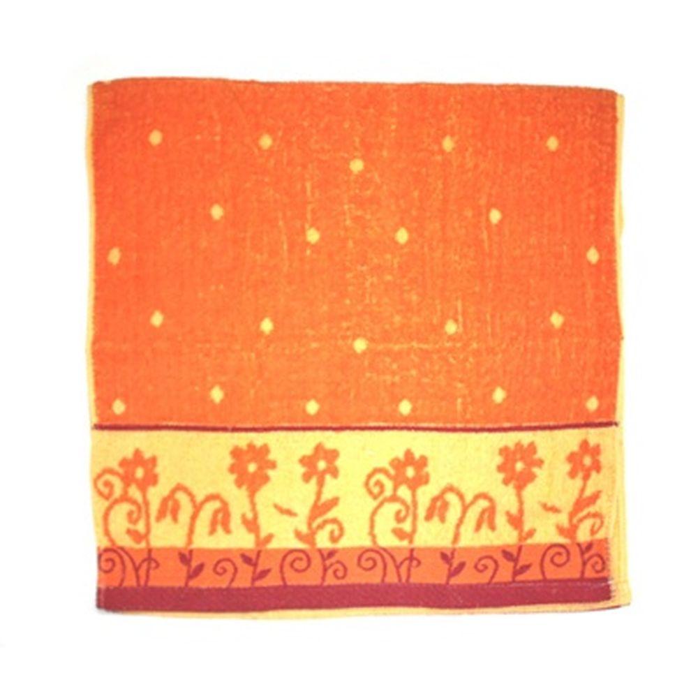 VETTA Полотенце банное, 100% хлопок, 50x100см, Flower field оранжевое арт FBS285-2