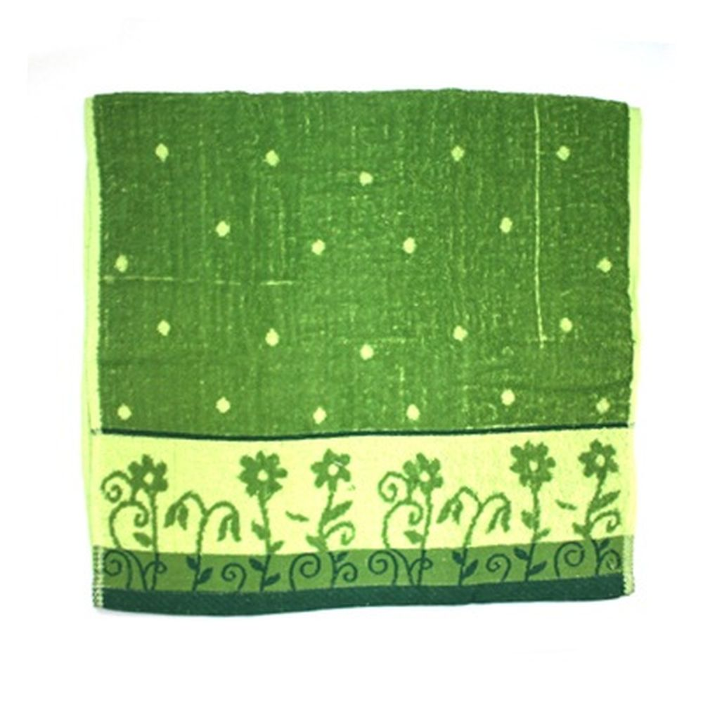VETTA Полотенце банное, 100% хлопок, 50x100см, Flower field зелёное арт FBS285-2