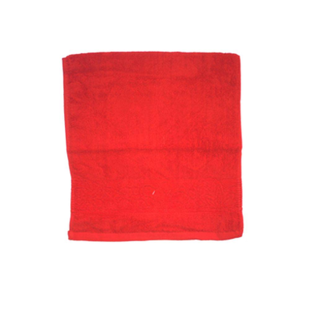VETTA Полотенце банное, 100% хлопок, 34x70см, Ornament, красное арт.FBS306-1