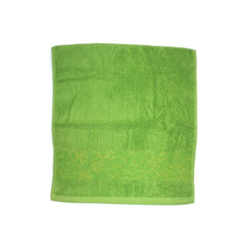 VETTA Полотенце банное, 100% хлопок, 34x70см, Ornament, зелёное арт.FBS306-1