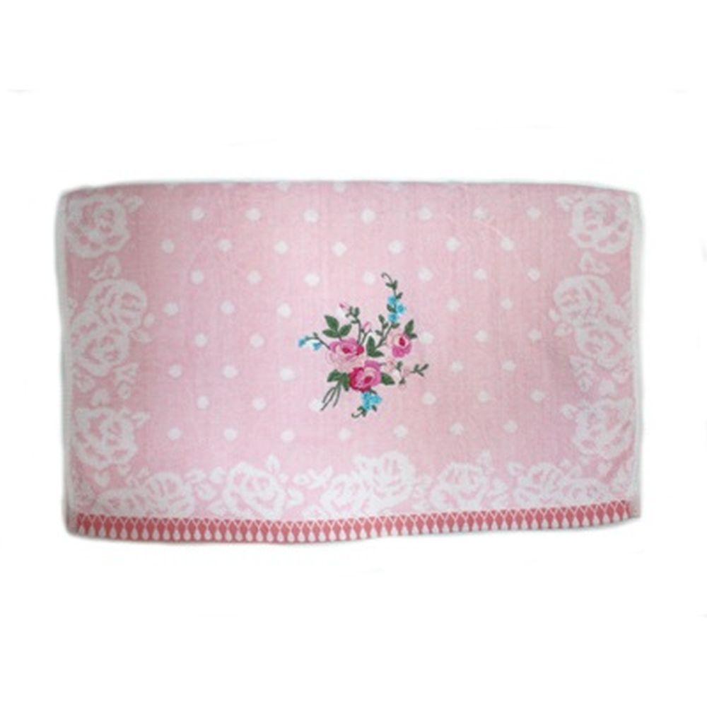 VETTA Полотенце банное, 100% хлопок Winter flower 50x90см, розовое арт FBS222-56
