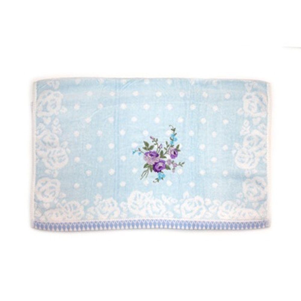 VETTA Полотенце банное, 100% хлопок Winter flower 50x90см, синее арт FBS222-56